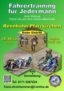 Freies Training am 28. März 2020 auf der Langbahn in Pfarrkirchen, Niederbayern